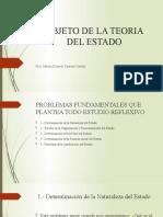 OBJETO DE LA TEORIA DEL ESTADO