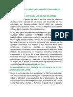 LA GESTIÓN DE LOS GRUPOS DE INTERÉS