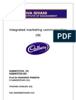 IMC ASSIGNMENT ON CADBURY