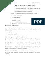 fiscalité des entreprises (IRG) M1 CCA