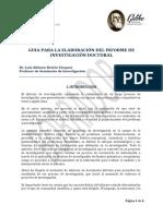 Guía Para La Elaboración Del Informe de Investigación Doctoral  Dr.Beteta