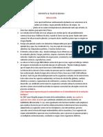 RESPUESTA AL TALLER DE BILOGIA DE KELLY SEVERICHE