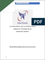 Honda Atlas cars (Pakistan) Limited.