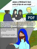 Jesus Raises a Widow's Son From the Dead - Jesús resucita al hijo de una viuda