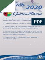 Peticiones Misionera Mes Julio 2020