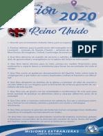 Peticiones Misioneras Mes de Junio 2020