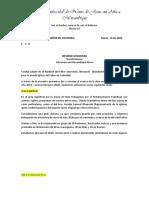 Informe Misionero Mozambique Marzo 2020