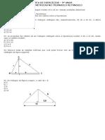 LISTA DE EXERCÍCIOS - relaçoes metricas no triangulo retangulo.doc