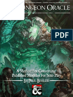 Solo Adventure Resource - The Dungeon Oracle