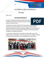 Informe Misionero Paraguay Marzo 2019