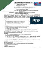 CONVOCATORIA DIPL GEST AULA EDU SUP  SEDE ACACHCACHI 2015