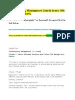 Contemporary Management Gareth Jones 11th Edition- Test Bank