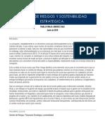 GESTIÓN DE RIESGOS PARA LA SOSTENIBILIDAD ESTRATEGICA