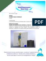 CABINA DE DESINFECCION COVID-19 modificada