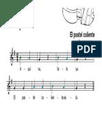 Pastel caliente flauta