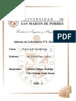 Laboratorio 2 - Procesos de Manufactura