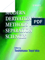 Modern Derivatization Methods for Separation Sciences (T. To