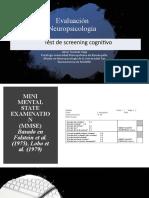 Test de screening cognitivo - (MMSE) y (MoCA).