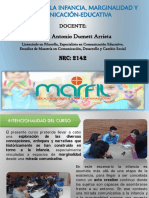 Presentación Curso Narrativas de la infancia - 202060