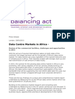 press release - data centre report - Jan 2011
