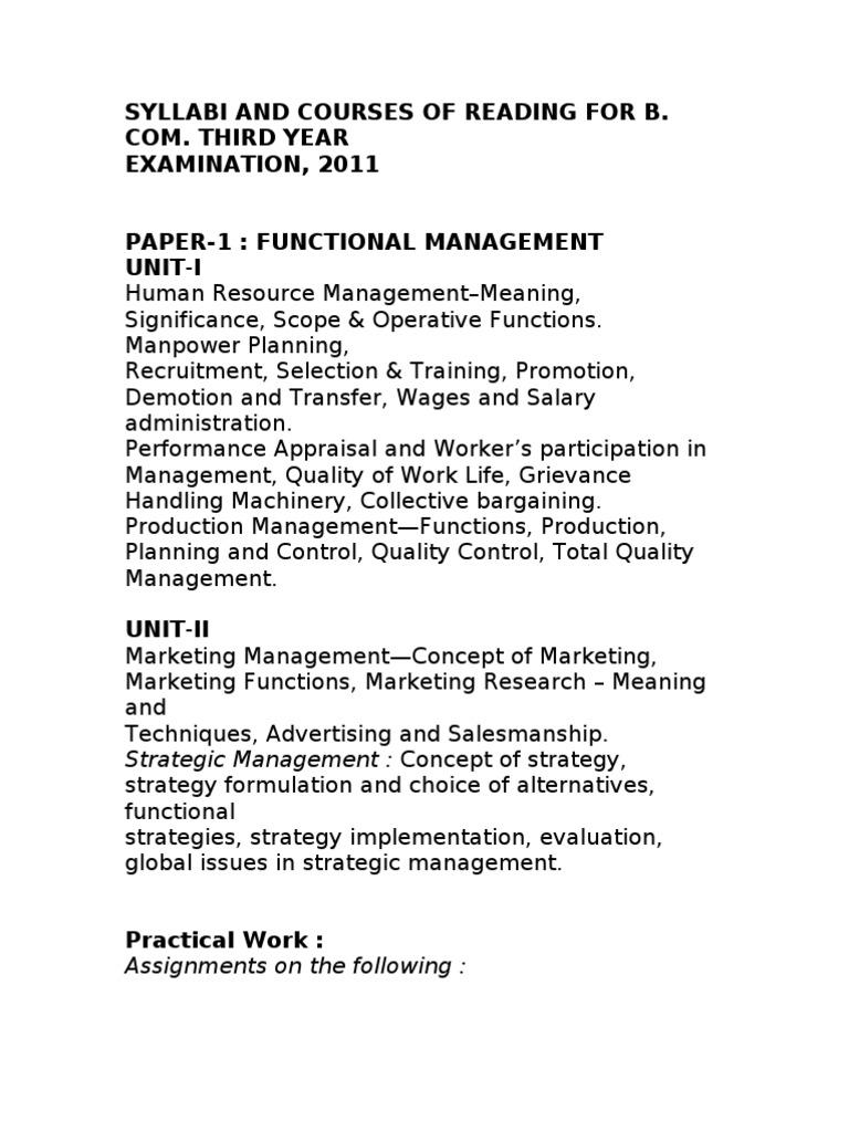 b com sylabus   Entrepreneurship   Strategic Management