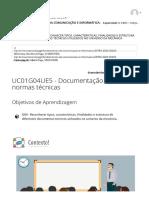 UC01G04UE5 - Documentação técnica_ normas técnicas _ FUNDAMENTOS DA COMUNICAÇÃO E INFORMÁTICA