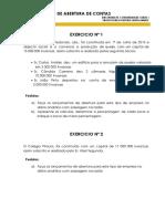 EXERCÍCIOS DE ABERTURA DE CONTAS (1)