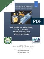 Informe de Maquetta de La Bacteria de Electricidad