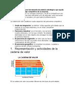 La cadena de valor una herramienta de análisis estratégico que ayuda a determinar la ventaja competitiva de la empresa.docx