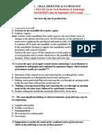 1000 MCQS _ ORAL MEDICINE & PATHOLOGY Plus September 2014 MCQs.docx