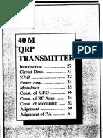 40m QRP Transmitter - VU2VWN and VU2PCM