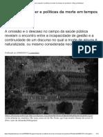 Eugenia, Biopoder e Políticas Da Morte Em Tempos de Pandemia – Blog Da Boitempo