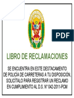 AVISO DE LIBRO DE RECLAMACIONES