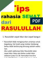 8 Tips Sehat Ala Rasulullah