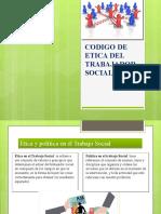 CODIGO DE ETICA DEL TRABAJADOR SOCIAL