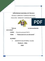 ELABORACION DE DEMANDA. DERECHO PROCESAL..docx