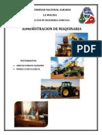 ADMINISTRACION DE MAQUINARIA