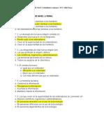 PREGUNTAS Y RESPUESTAS DE NIVEL LITERAL