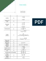 Gear trains equations