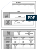 Zoom class timetable PG-10