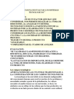 IMPORTANCIA DE EVALUAR LOS SISTEMAS TECNOLÓGICOS 2019