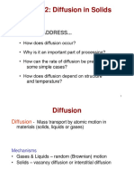 2.2.solidification, imperfection (defect) in solids, and diffusion