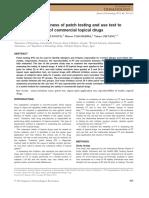 patch test drug