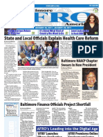 Baltimore Afro-American Newspaper, January 22, 2011