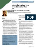 Impact of Episiotomy During Operative