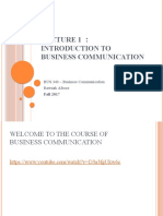 Lecture 1 - Introduction to Business Communication (1).pptx