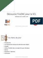 Découvrez fireDAC pour la VCL