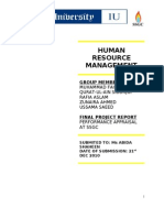 SSGC Performance Appraisal