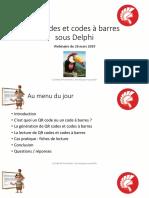 QR Codes et codes à barres sous Delphi