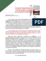 Acción Pública y Ley de Patrimonio Natural de Castilla y León. José Andrés Martínez García. Biólogo.